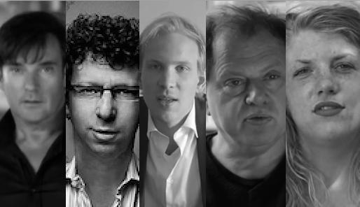 YT - Gerard Joling - Cc wikimedia Ben Klein - YT VPRO Tegenlicht - YT De Speld - YT NPO DOC